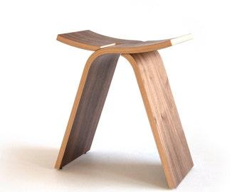 Interlochen Stool - Walnut Bent Plywood