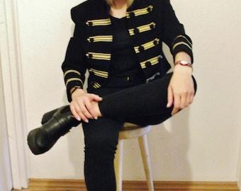 Jacket Michael Jackson marine black gold