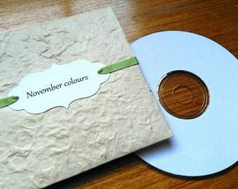Personalised CD Sleeve, Custom DVD Sleeve, Natural.