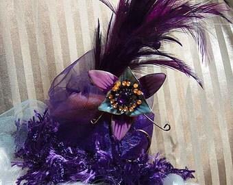 Steampunk Lolita Purple Lunatic Fringe Mini Hat
