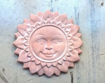 Hanging Clay Sun - Wall Art - Nautical Decoration - FREE SHIPPING