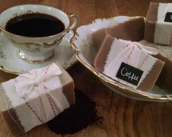 Coffee Soap - handmade, all natural with organic ingredients. Great for the holidays and for any coffee lover!