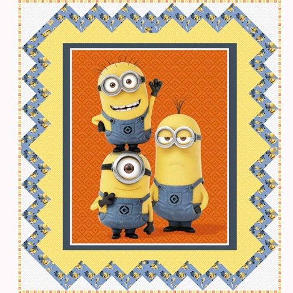 1 in a Minion Quilt Kit Despicable Me Movie Backing/Binding Included!