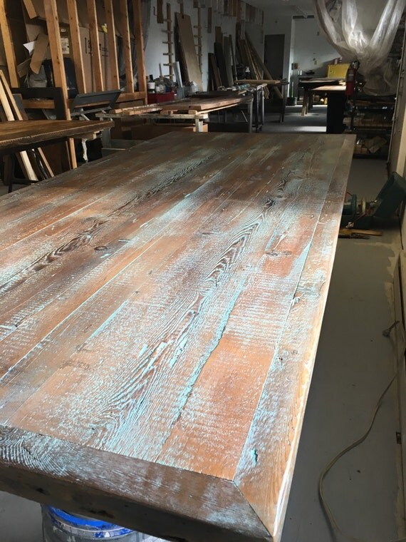 Reclaimed Wood Dining Table Industrial Table By