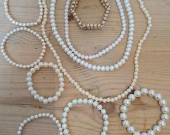 Vintage Pearl necklaces and bracelets