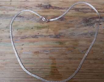 vintage sterling silver ribbon style chain
