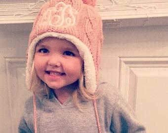 Monogrammed Toddler Winter Hat