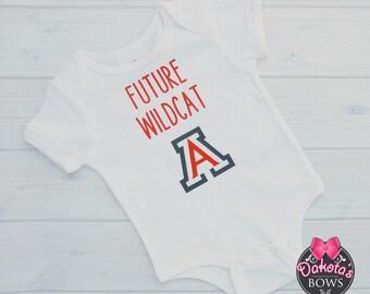 U of A onesie, University of Arizona onesie, Wildcat onesie, Bear Down, Future Wildcat