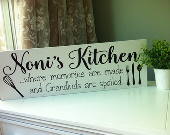 Nonna Gifts, Nonnas Kitchen, Nonis Gift, Mimi Gift, Gifts for Mimi, Mimi Sign, Personalized Kitchen Sign, Wooden Sign, Kitchen Signs, Decor