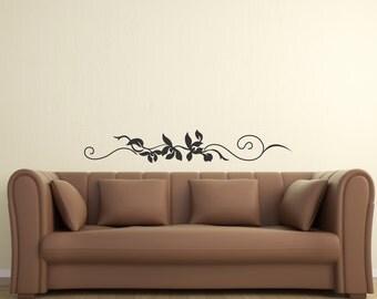 Scroll Embellishment 20 ... Vinyl Wall Decal Sharp Art Deco