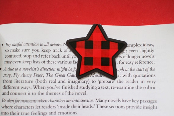 Tartan Star Magnetic Bookmarks x2