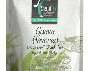 16 oz. Guava Flavored Loose Black Tea with Free Tea Infuser