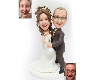 Personalised wedding cake topper - Dancing Couple Theme  (Free shipping)