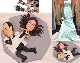 Personalised wedding cake topper - Wrestler Wrestling Cake Toppers (Free shipping)