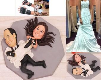 Personalised wedding cake topper - Wrestler Wrestling Cake Toppers (Free shipping)