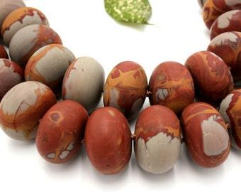 Matte Noreena Jasper large roundels beads (ETB00002)
