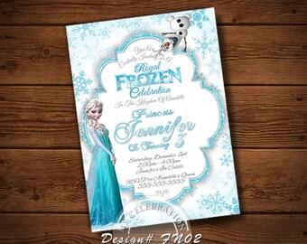 FROZEN BIRTHDAY INVITATION, My Celebration Shoppe, Frozen Invitation, Birthday Invitation, Printable, Christmas, Chalkboard Invitation,