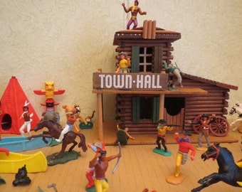 Vintage Western town ToyTown Hall 70s