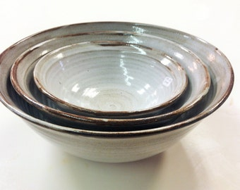 handmade nesting bowls