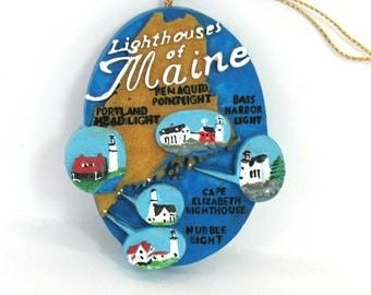 Lighthouses Ornament, Nautical Ornament, Maine Christmas Ornament Portland Headlight
