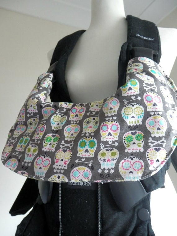 baby bjorn baby carrier one bib cover skulls. Black Bedroom Furniture Sets. Home Design Ideas