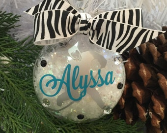 Ice Hockey Girl Ornament, Personalized