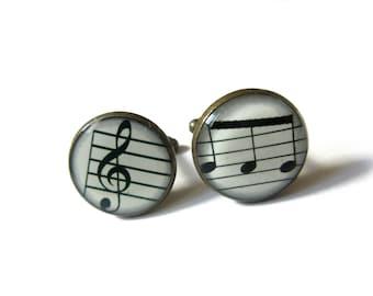 MUSIC CUFFLINKS - Treble Clef Music Cufflinks - musical symbol - Music Cufflinks - Musician Cufflinks,Wedding Cufflink, for Him Men Jewelery
