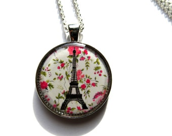Eiffel Tower Necklace, Eiffel Tower Pendant, Paris jewelry, french jewelry, Paris necklace, Paris pendant, Liberty jewelry, gift for her