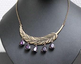 Spring necklace - purple
