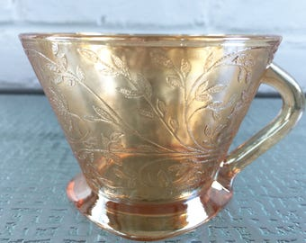 Jeannette Glass Company Floragold Cups