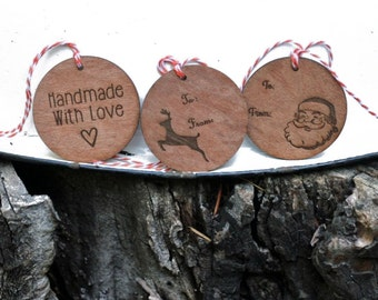 Holiday Themed Gift Tags // Repurposed Wood