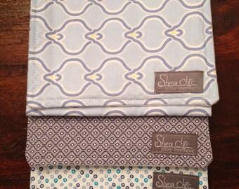 Burp Cloth Set of 3 - Blue