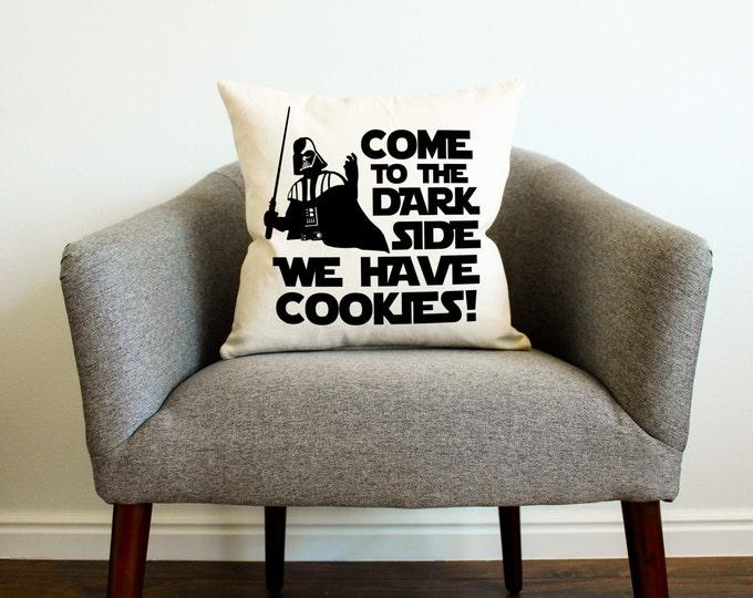 "Star Wars Darth Vader ""We Have Cookies"" Pillow - Star Wars Funny Gift, Star Wars Kids Decor, Dark Side,"