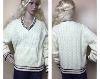 vintage 70S Tennis Sweater , Jimmy Connors  sweater
