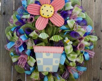 Adorable Flower wreath XL handmade