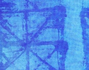 NEW Marcia Derse Studio Alphabet Hydrangea Blue fabric BTY