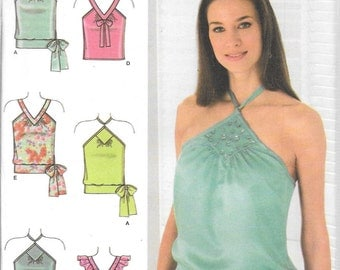 Simplicity Pattern 4537 SUMMER HALTER TOPS Misses 4 6 8 10