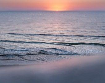 Ormond Beach Florida Sunrise over the Ocean Photo. Sunrise Photo in Matte ready to frame. Florida Sunrise Gifts. Florida Gifts. Ocean Gifts