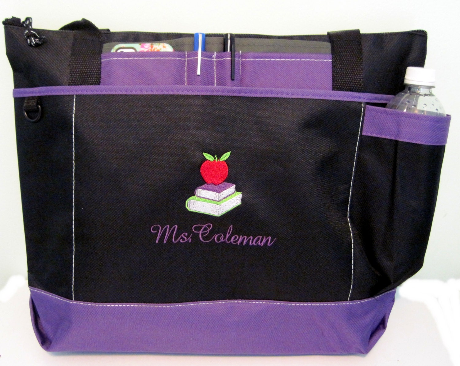 Tote Bag Embroidered Name