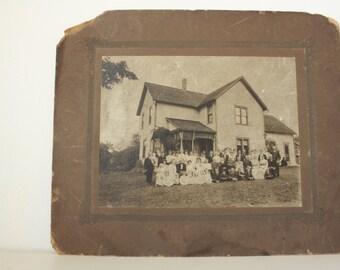 1800s Antique Photograph. Black and White Photograph. Victorian Family. Victorian Photograph. Large Print. Paper Ephemera.
