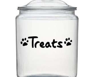 DIY - Treats vinyl decal for your animals treat jar