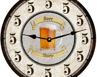 Beer Thirty Clock- Personalized Clock