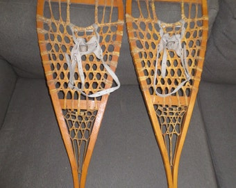 Vintage Pair of Snowshoes , 41 3/4 by 12 1/2 inches