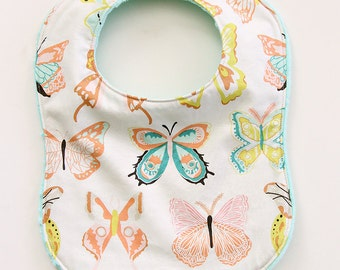 Butterfly Baby Snap Bib