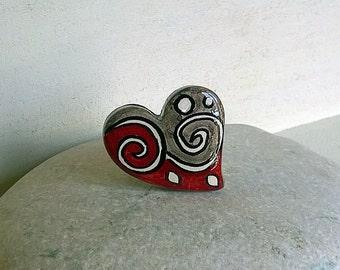 Ring, Ring, Ceramic Ring, heart, Jewellery, Ceramics & Pottery, Ceramic jewelry, Handmade, Heart