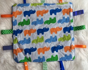 Taggie blanket, sensory blanket, minky blanket, baby boy