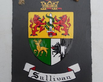 Hand-Painted Coat Of Arms on Irish Slate