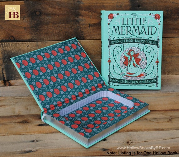 Hollow Book Safe - The Little Mermaid - Leather Bound Book Safe