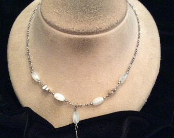 Vintage Moonstone Beaded Necklace