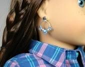 "Beaded Hoop Earring Dangles for 18"" Play Dolls such as American Girl®"